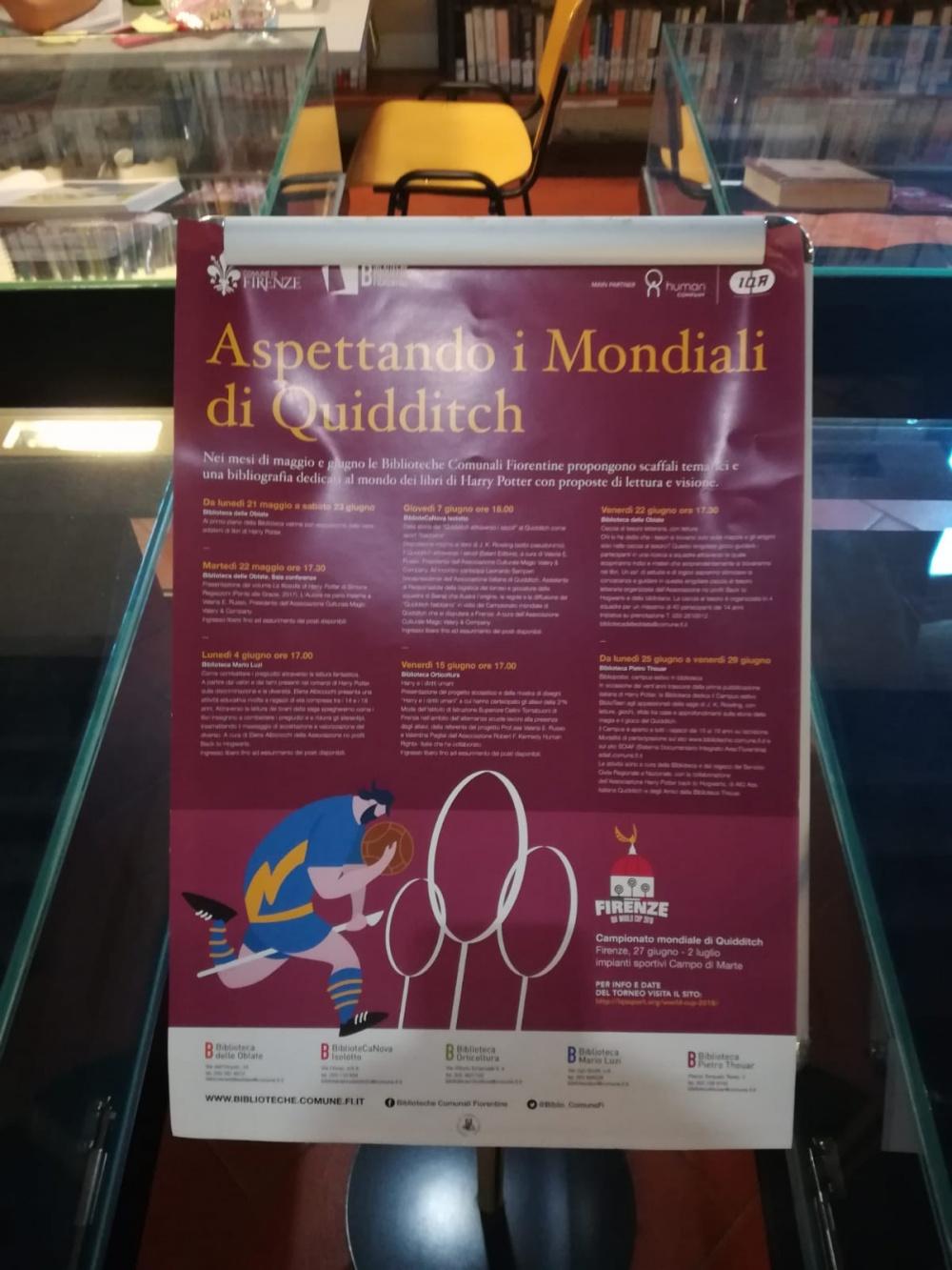 Caccia Letteraria alla Biblioteca delle Oblate di Firenze - locandina