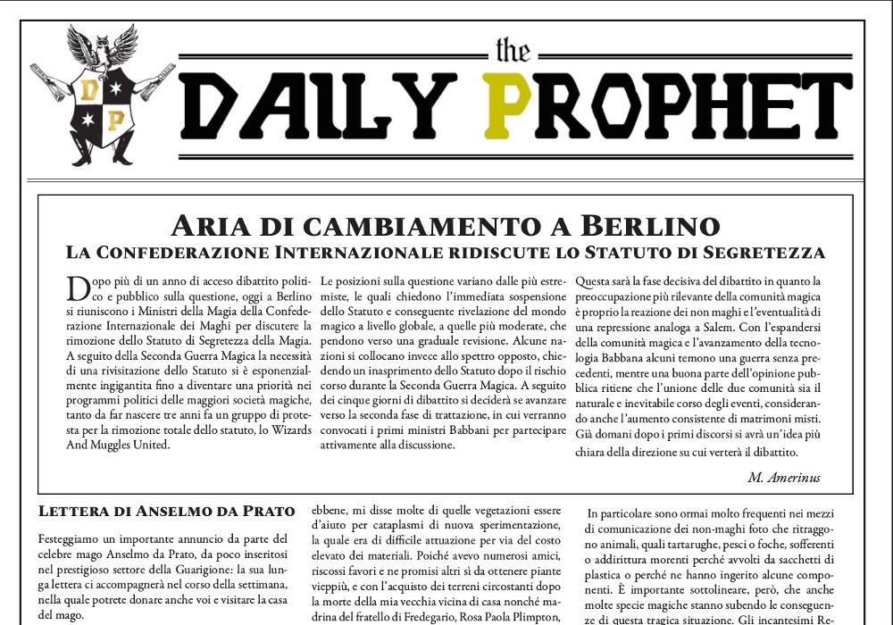 gazzetta del profeta 24 agosto 2019