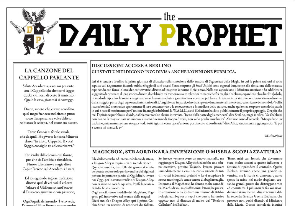 gazzetta del profeta 25 agosto 2019