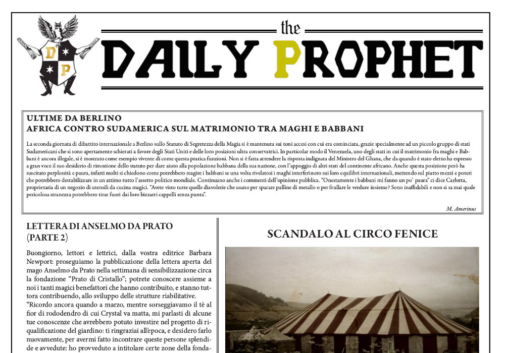 gazzetta del profeta 26 agosto 2019