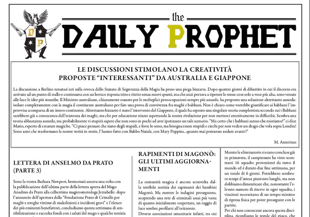 gazzetta del profeta 28 agosto 2019