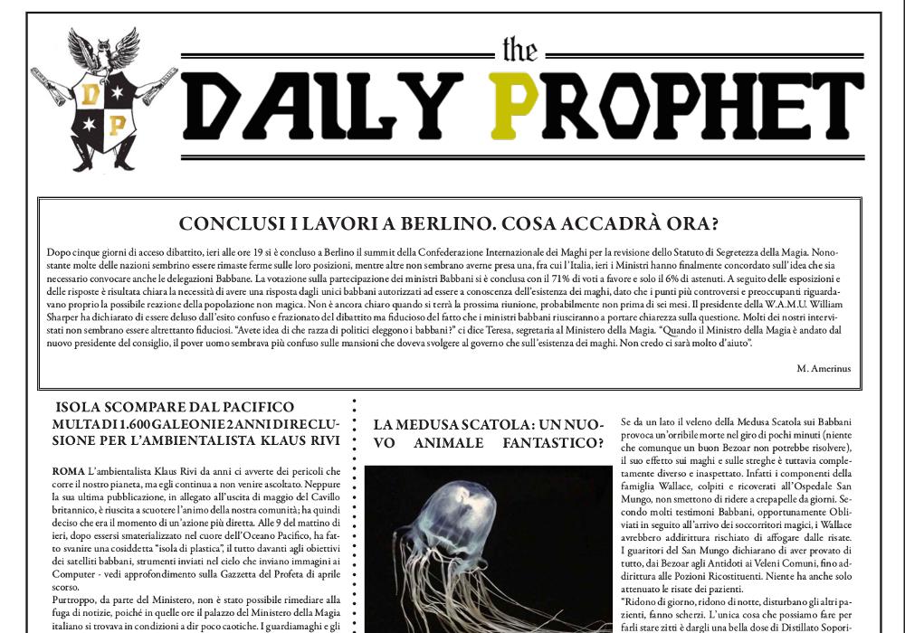 gazzetta del profeta 29 agosto 2019