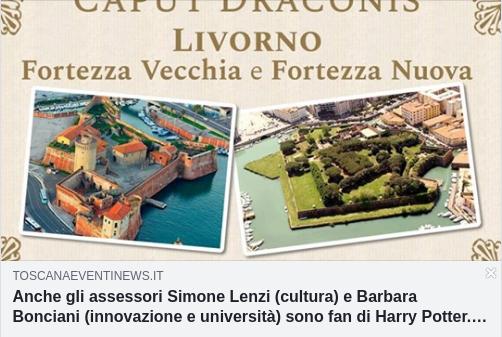 Il sito Toscana Eventi & News parla del nostro raduno