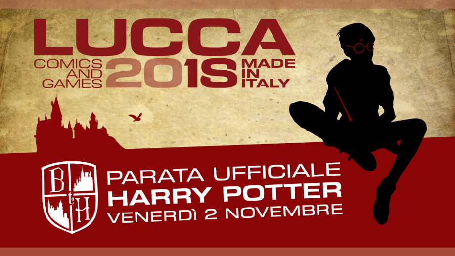 Parata ufficiale Harry Potter Lucca Comics & Games 2018