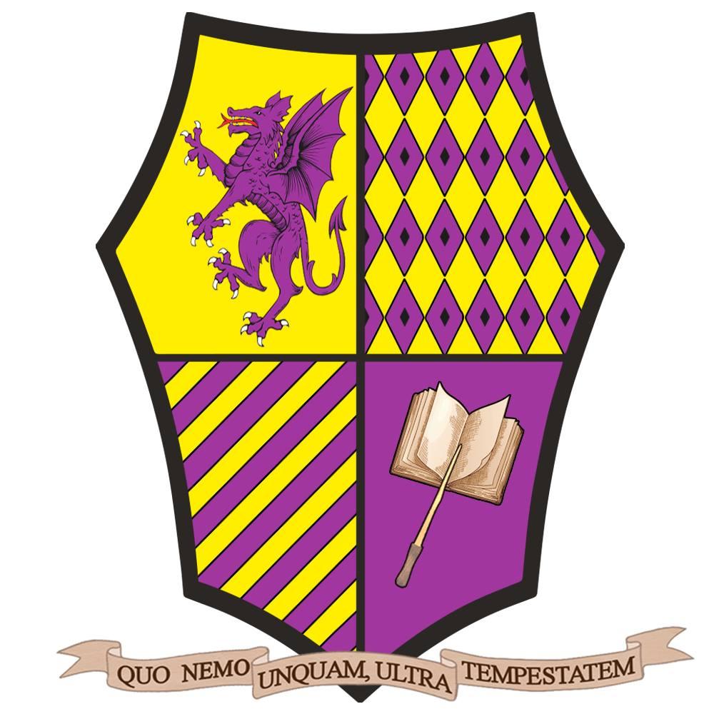 Stemma dell'Accademia Caput Draconis a colori con motto
