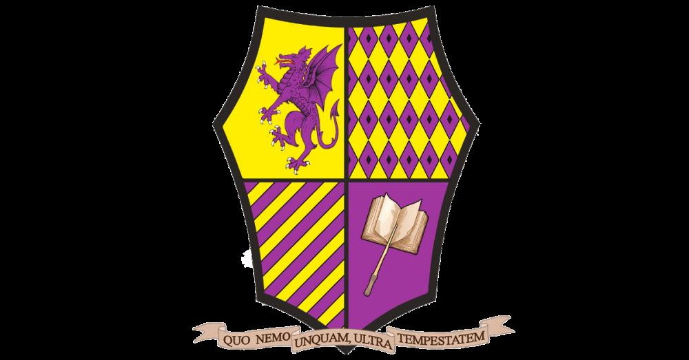 Stemma dell'Accademia Caput Draconis a colori e motto